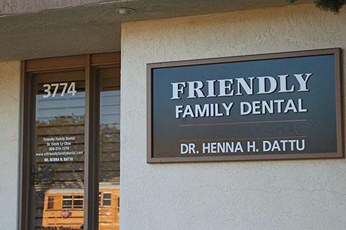 Friendly Family Dental office, in Mesa, San Diego
